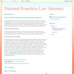 Concise Guide On International Franchisee Business
