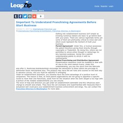 Important To Understand Franchising Agreements Before Start Business