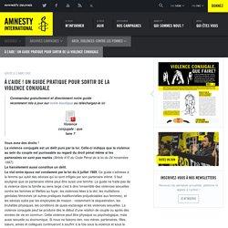 À l'aide ! Un guide pratique pour sortir de la violence conjugale - Amnesty International Belgique Francophone
