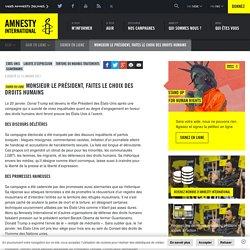 Monsieur le Président, faites le choix des droits humains - Amnesty International Belgique Francophone