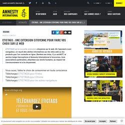 Etictags : une extension citoyenne pour faire vos choix sur le web - Amnesty International Belgique Francophone