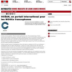 OCÉAN, un portail international pour les MOOCs francophones