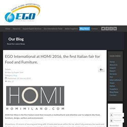 EGO International at HOMI 2016, the first Italian fair for Food and Furniture.