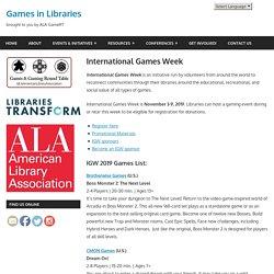 International Games Week – Games in Libraries