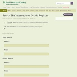 The International Orchid Register