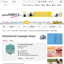 International Language Camps, Genève - Genèvefamille, le site des familles à Genève. Infos, adresses utiles