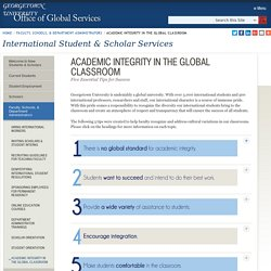 Academic Integrity in the Global Classroom