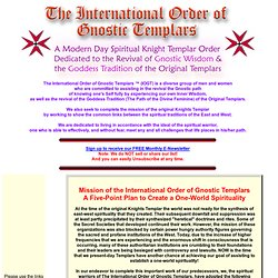 The International Order of Gnostic Templars