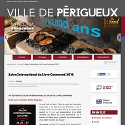 Salon International du Livre Gourmand 2016