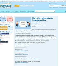 March 20: International Happiness Day