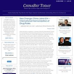 International Harmonization of Drug Rules