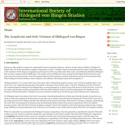 International Society of Hildegard von Bingen Studies: Music