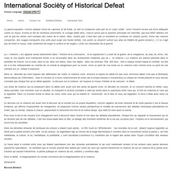International Socièty of Historical Defeat