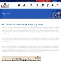 eWEF Edu-Thon International Hospitality Series