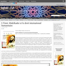 L'Emir Abdelkader & droit international humanitaire