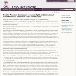 The Inter-American Commission on Human Rights and international humanitarian law: A comment on the Tablada Case