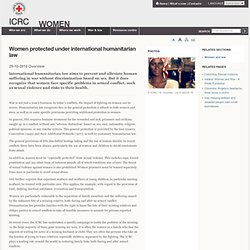 Women protected under international humanitarian law