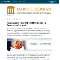 Know About International Mediation In Franchise Contract: ifranchiselaw
