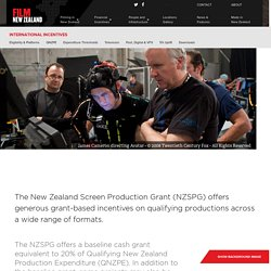 International Incentives - Film NZ