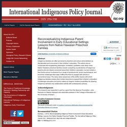 The International Indigenous Policy Journal