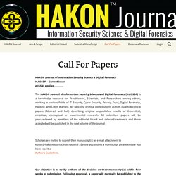 International Journal Of Information-Security And Digital Forensics (HIJISDF)