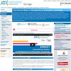 International Master in Management of Information Technology-IAE Aix Graduate School of Management