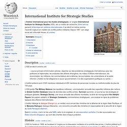 International Institute for Strategic Studies