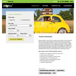Matrix : International Travel Insurance
