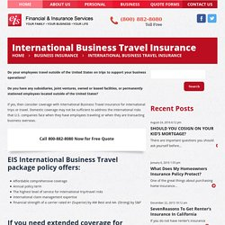 International Business Travel Insurance Package Policy