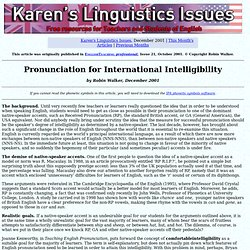 International Intelligibility
