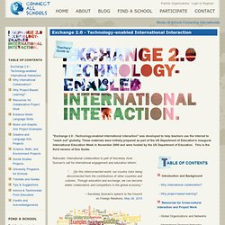 Exchange 2.0 - Technology-enabled International Interaction