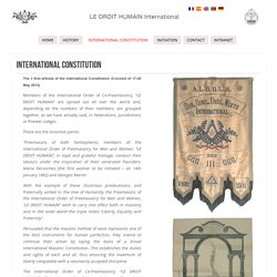 1920 Constitution Internationale - Droit Humain