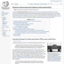 Système international (relations internationales)