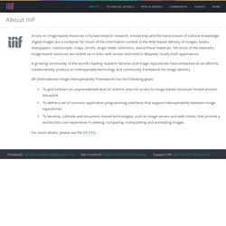 International Image Interoperability Framework