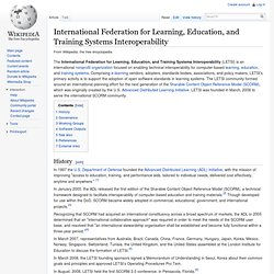 International Federation for Learning, Education, and Training Systems Interoperability