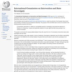 International Commission on Intervention and State Sovereignty