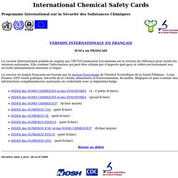 NIOSH French/WHO/International Program on Chemical Safety/Intern
