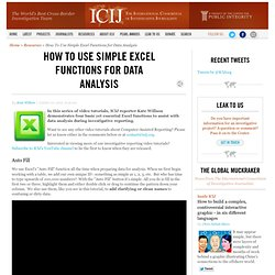 How To Use Simple Excel Functions for Data Analysis