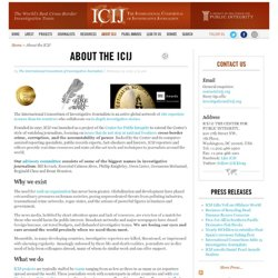 About the ICIJ