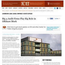Big 4 Audit Firms Play Big Role in Offshore Murk