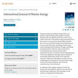 International Journal of Marine Energy
