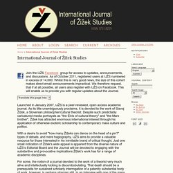 International Journal of Žižek Studies
