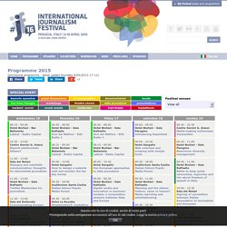 Programme International Journalism Festival #ijf15