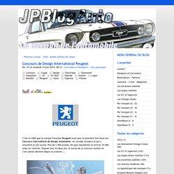 Concours de Design International Peugeot - @ JPBlogAuto - La Passion Automobile @