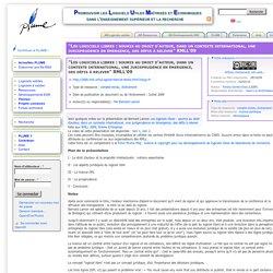 """""""Les logiciels libres : soumis au droit d'auteur, dans un contexte international, une jurisprudence en émergence, des défis à relever"""" RMLL'09"""