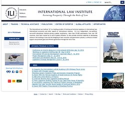 International Law Institute - International Law Institute