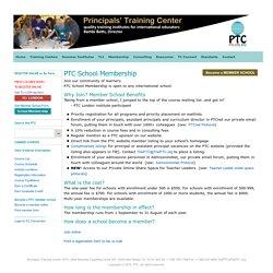 Principal's Training Center for International School Leadership - Membership Benefits & Overview