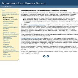 International Legal Research