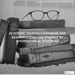 LexisNexis Business Insights Solution India: Academic Journals Database and Research Tool for Student by International LexisNexis