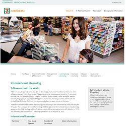 International Licensing - 7-Eleven Corporate